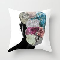 CrystalHead Throw Pillow