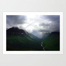 Mystic Mountains Art Print