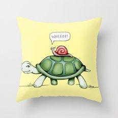 The Snail & The Turtle Throw Pillow