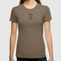 Amulet Womens Fitted Tee Tri-Coffee SMALL