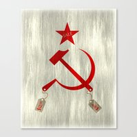 Communism Vs. Capitalism Canvas Print