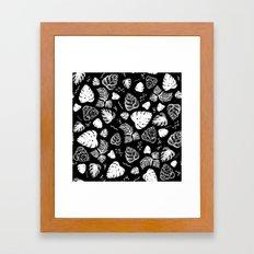 tropical goth pattern Framed Art Print