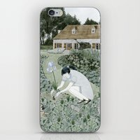 Planting Irises iPhone & iPod Skin