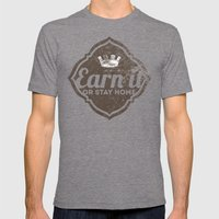 Earn It E-dub 2 Mens Fitted Tee Tri-Grey SMALL