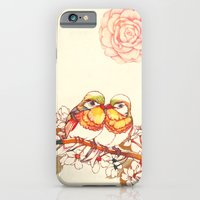 iPhone & iPod Case featuring Lovebirds by Natsuki Otani