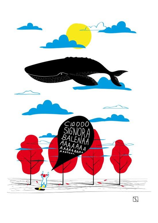 CIAO SIGNORA BALENA Art Print
