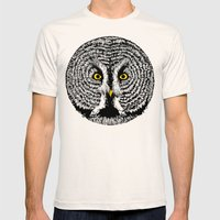 Round Owl Mens Fitted Tee Natural SMALL