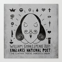 England's National Poet Canvas Print