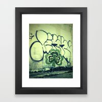 Gritty Alley Shamrock Framed Art Print