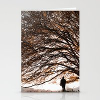 Under the safe arms of the tree Stationery Cards