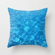 Waves Gently Splashing O… Throw Pillow