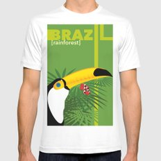 Brazil [rainforest] SMALL Mens Fitted Tee White