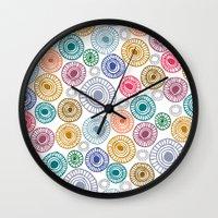 c13 pattern series 009 Wall Clock