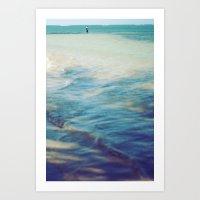Fisherman In The Distanc… Art Print