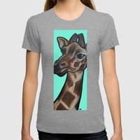 Giraffe Womens Fitted Tee Tri-Grey SMALL