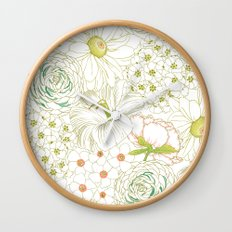 Big Blooms Wall Clock