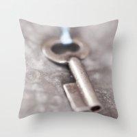 The Key Throw Pillow