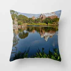 Flame Tree View Throw Pillow