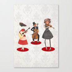Music lovers Canvas Print