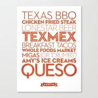 Austin — Delicious City Prints Canvas Print