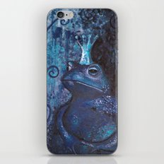 The Frog King - blue iPhone & iPod Skin