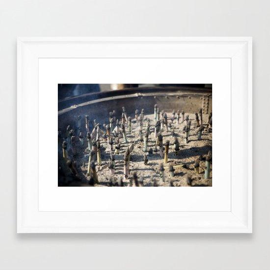 Incense Framed Art Print