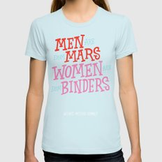 Men Are From Mars, Women… Womens Fitted Tee Light Blue SMALL