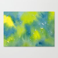 Vibrant sunshine tree top Canvas Print