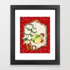 Fairy Merry Christmas Framed Art Print