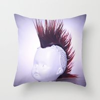 Rebelious Young Person Throw Pillow