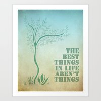 Best things. Art Print