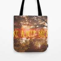 Tote Bag featuring Breathe by AA Morgenstern