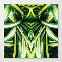 50 Shades Of Green (3) Canvas Print