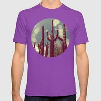 Space Cactus Mens Fitted Tee Ultraviolet SMALL