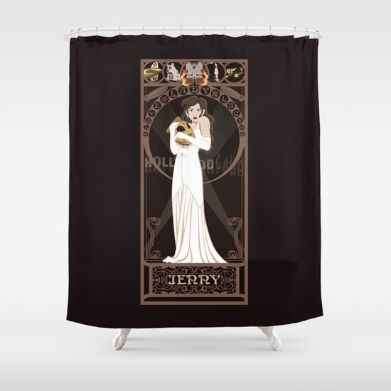 Jenny Nouveau - The Rocketeer Shower Curtain