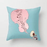 musical moment II  Throw Pillow