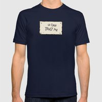U Can Trust Me Mens Fitted Tee Navy SMALL