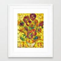 Van Gogh Sunflowers Frac… Framed Art Print