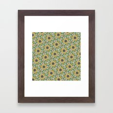 Yellow Violas With Check… Framed Art Print