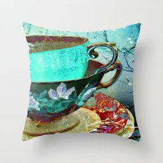 Madhatter's Teaparty No.… Throw Pillow