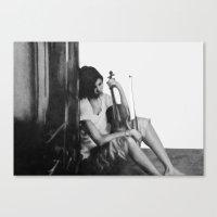 Cello Player  Canvas Print