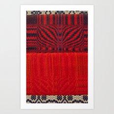 Fabric Art Red Art Print