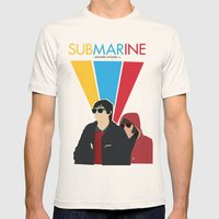 Submarine Movie Poster Mens Fitted Tee Natural SMALL