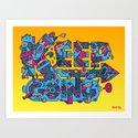 Keep Going Art Print