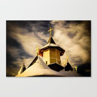 The Crosses Of The Katho… Canvas Print