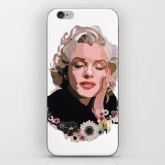 Marilyn Monroe with Flowers iPhone & iPod Skin