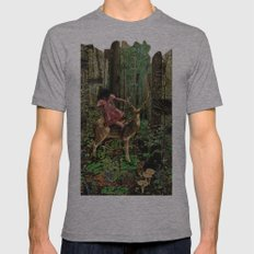 Deerlove | Collage Mens Fitted Tee Athletic Grey SMALL