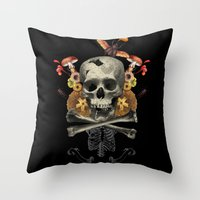 Hard Skull Throw Pillow