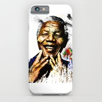 iPhone & iPod Case featuring Nelson Mandela by D77 The DigArtisT
