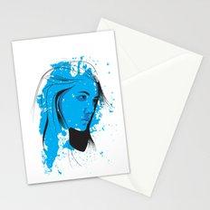 Black, blue & white II Stationery Cards